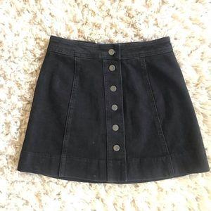 Madewell button front skirt